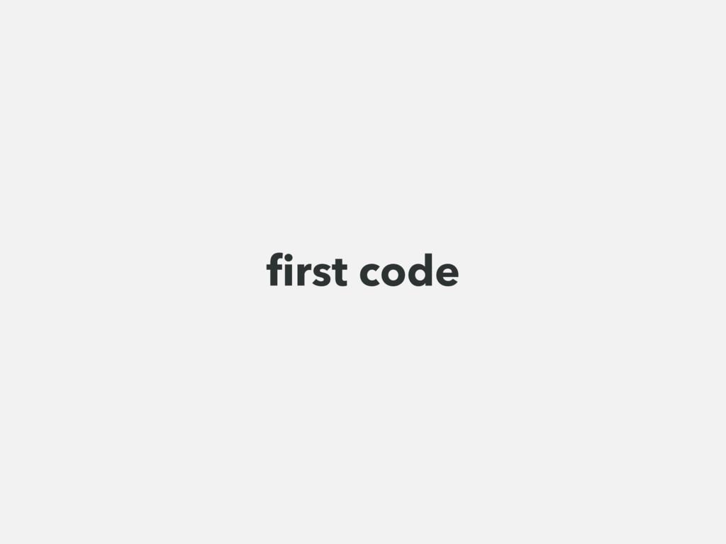 first code