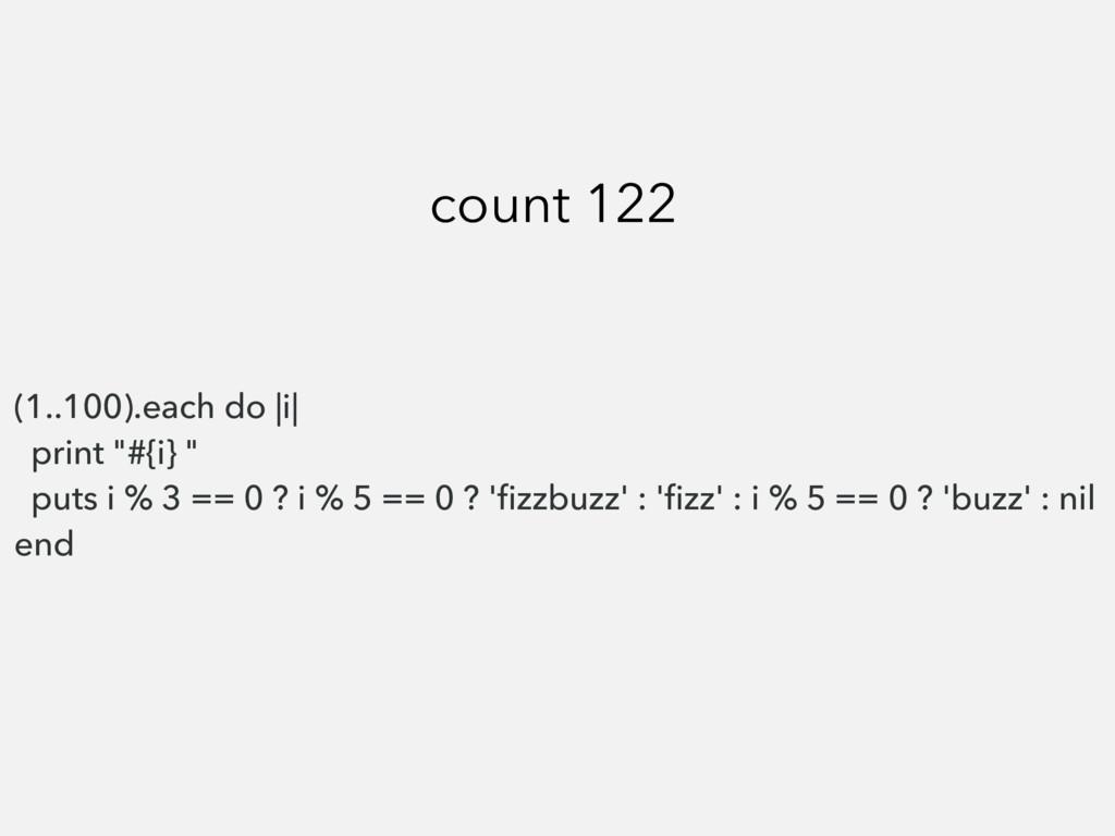 "(1..100).each do |i| print ""#{i} "" puts i % 3 =..."
