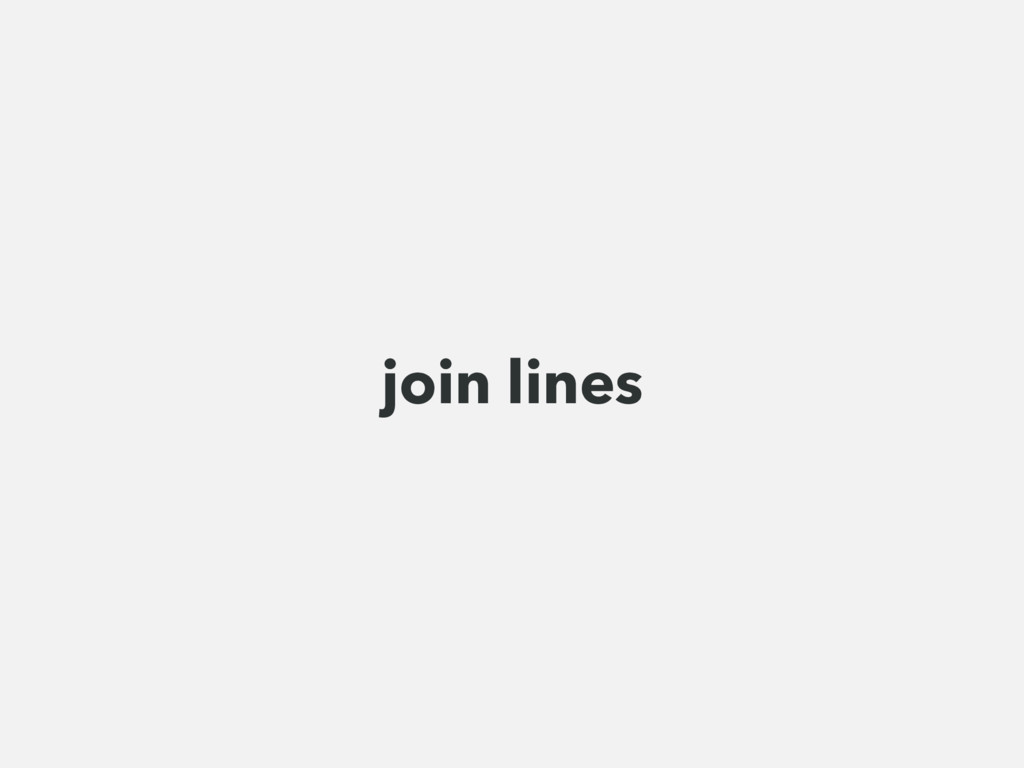 join lines