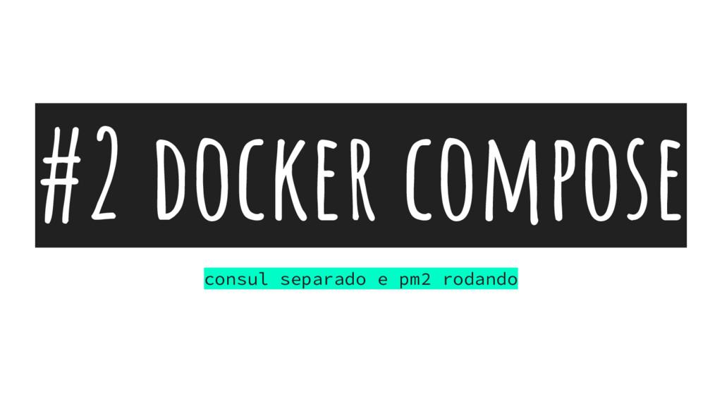 #2 docker compose consul separado e pm2 rodando