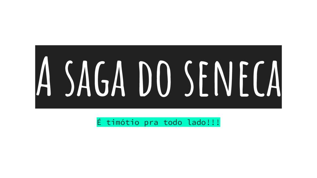 A saga do seneca É timótio pra todo lado!!!