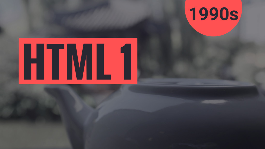 1990s HTML 1