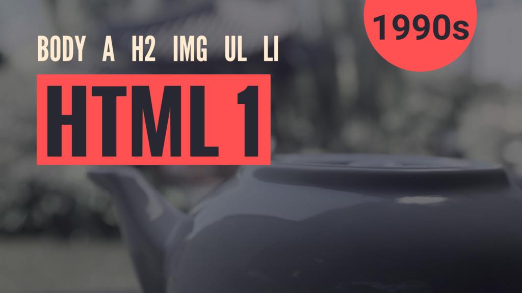 BODY A H2 IMG UL LI HTML 1 1990s