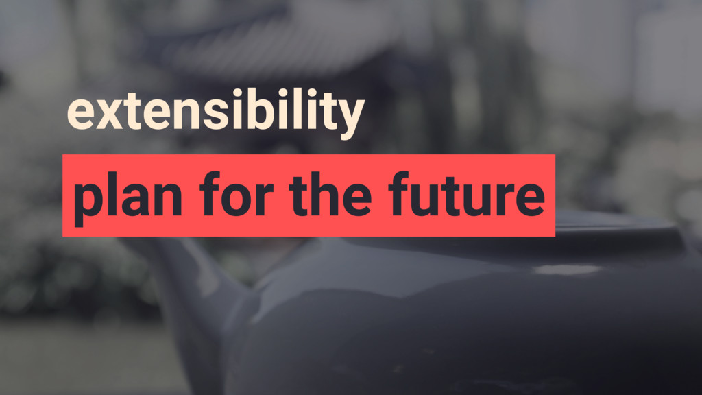 extensibility plan for the future