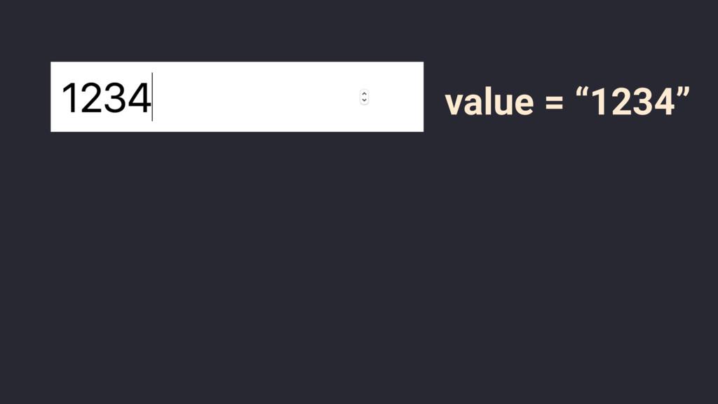 "value = ""1234"""
