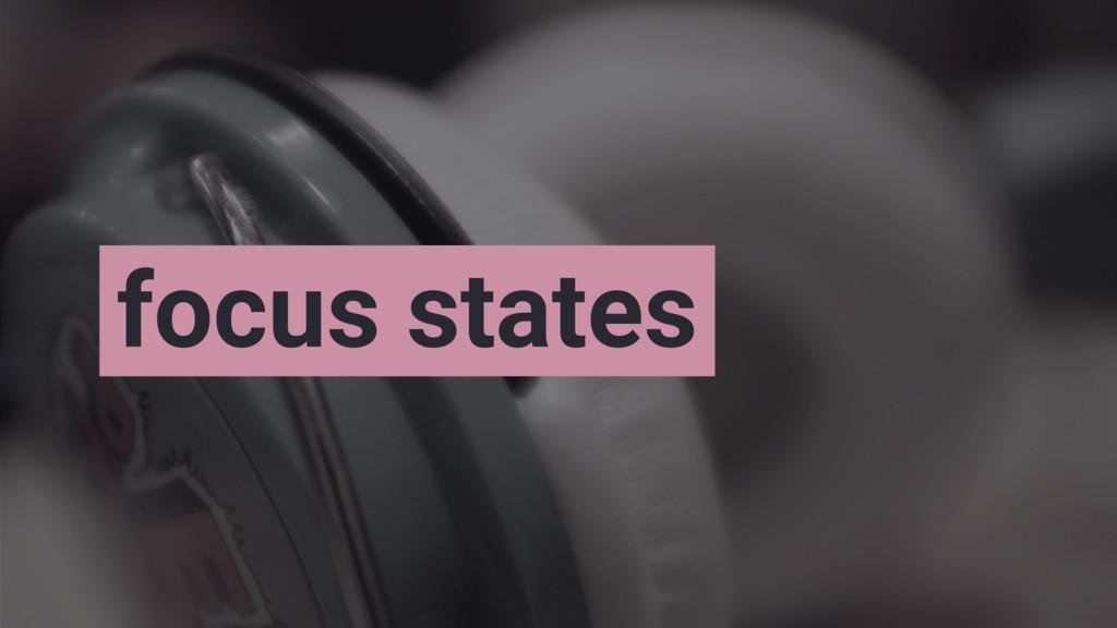 focus states