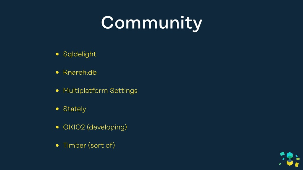 Community • Sqldelight • Knarch.db • Multiplatf...