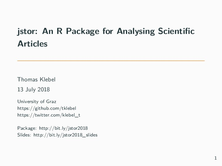 jstor: An R Package for Analysing Scientific Art...