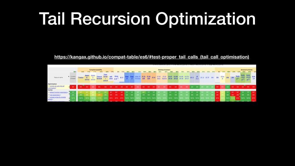 Tail Recursion Optimization https://kangax.gith...