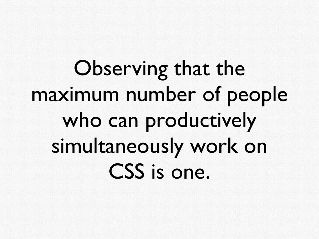 Observing that the maximum number of people who...