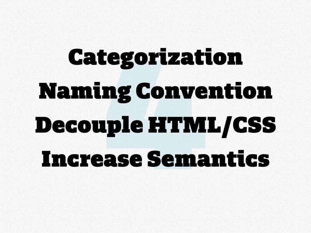 4 Categorization Naming Convention Decouple HTM...