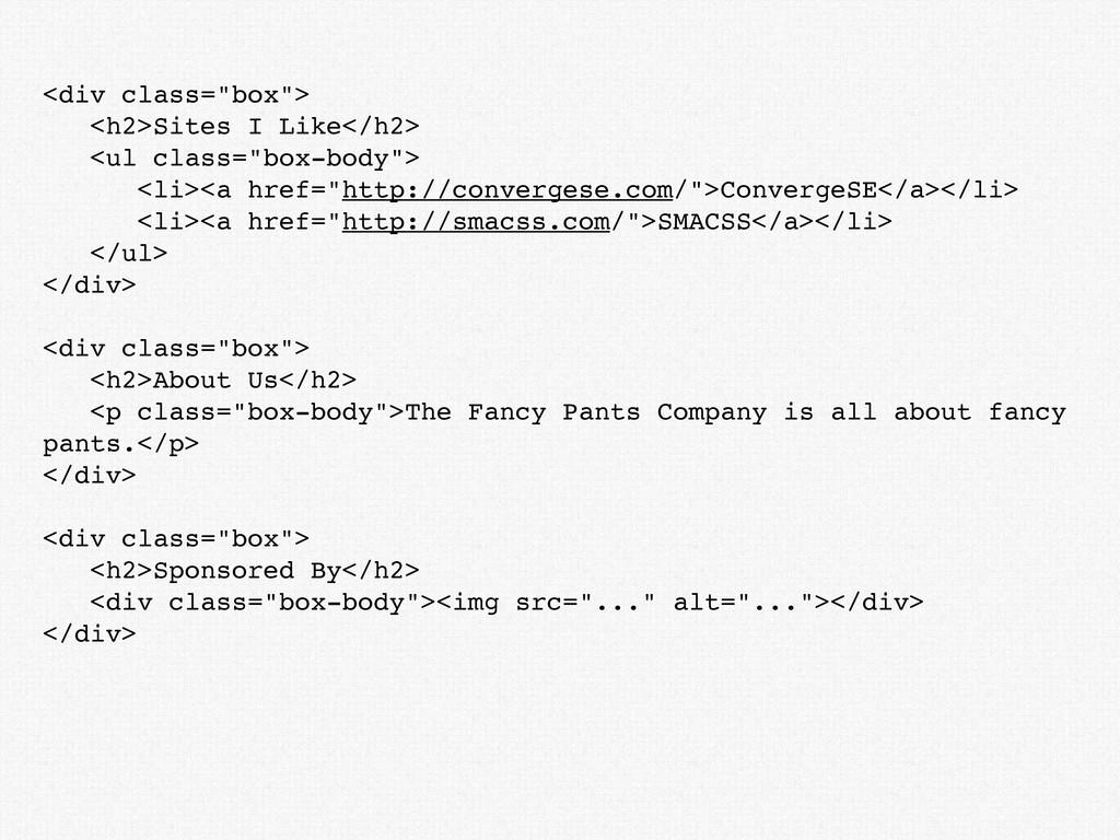 """<div class=""""box""""> <h2>Sites I Like</h2> <ul cla..."""