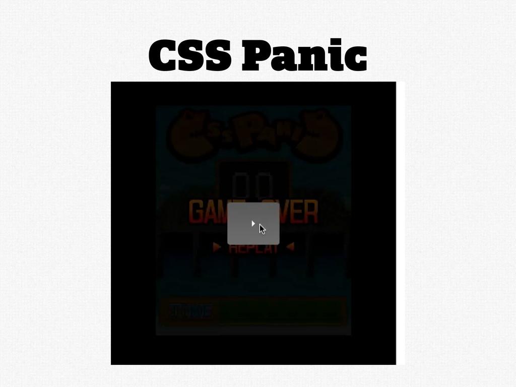 CSS Panic