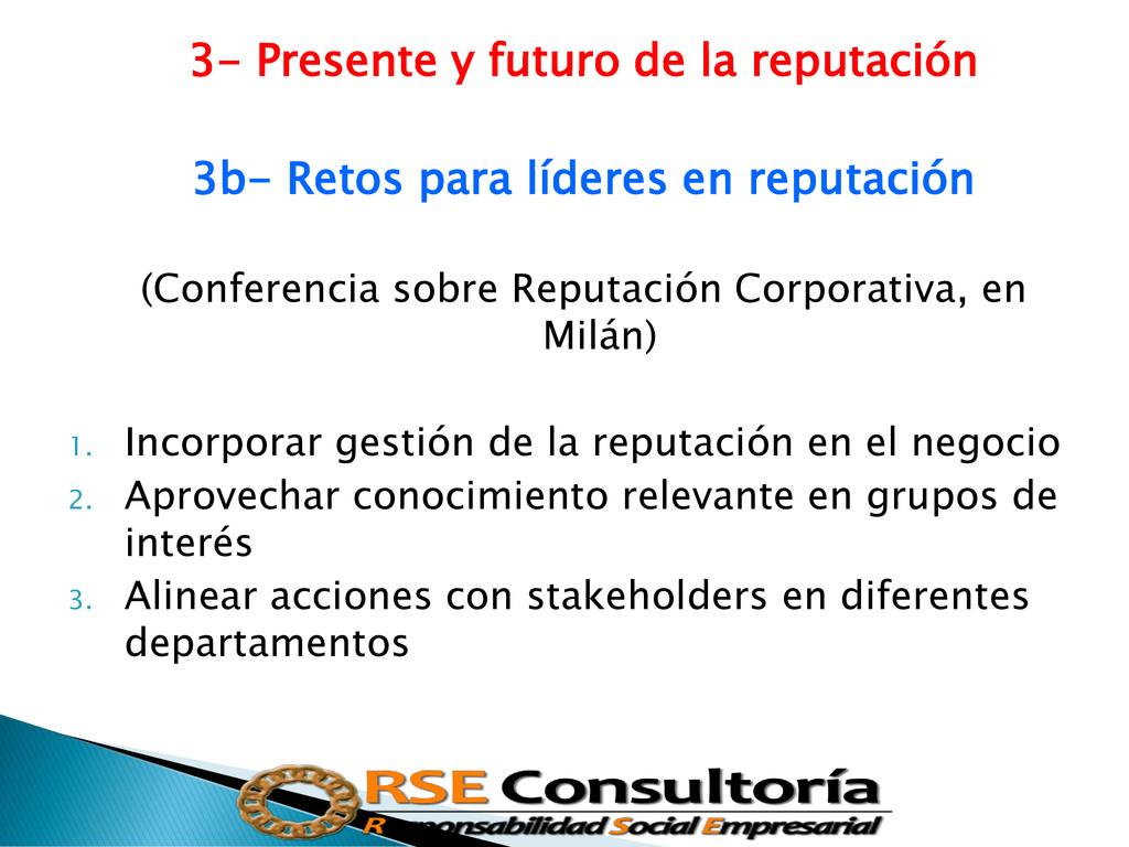 3- Presente y futuro de la reputación 3b- Retos...