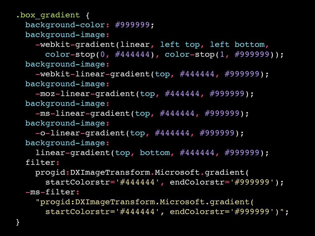 .box_gradient { background-color: #999999; back...
