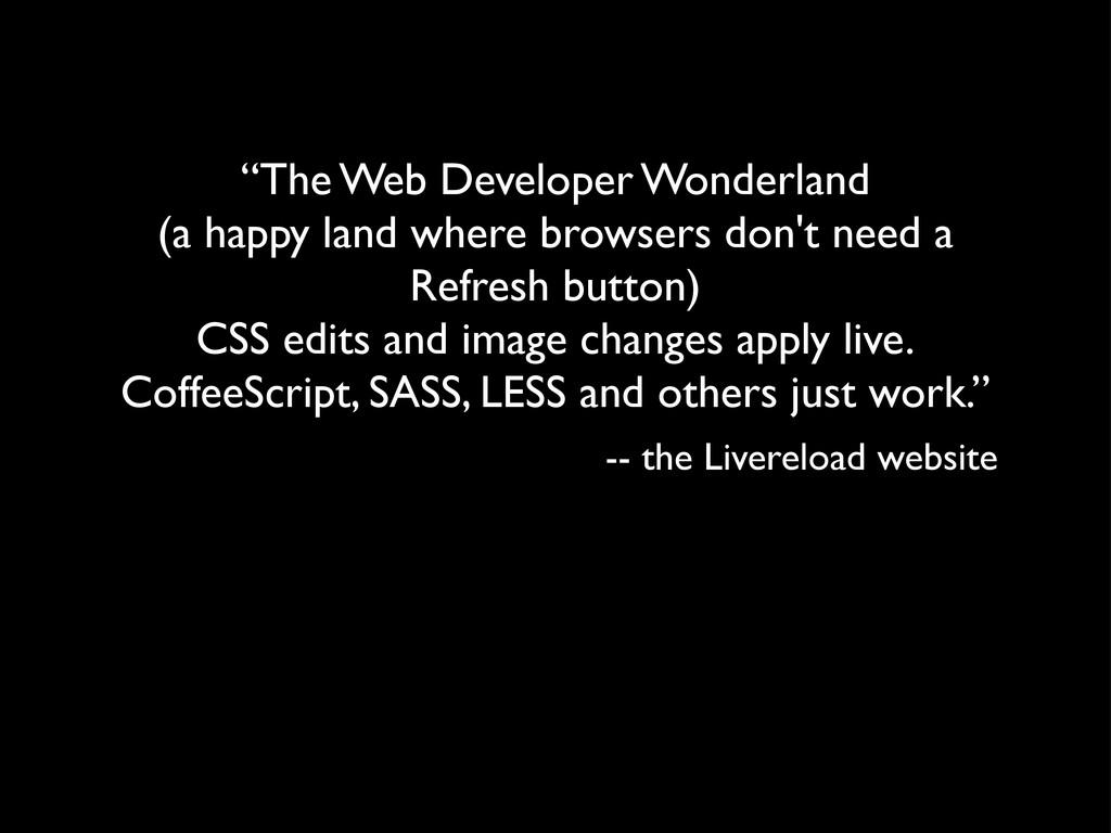 """The Web Developer Wonderland (a happy land whe..."