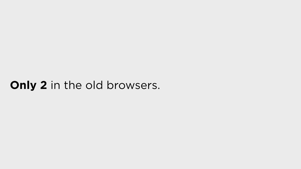 Only 2 in the old browsers.