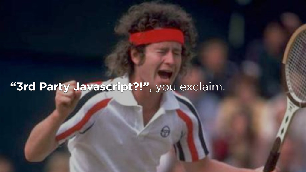 """""""3rd Party Javascript?!"""", you exclaim."""