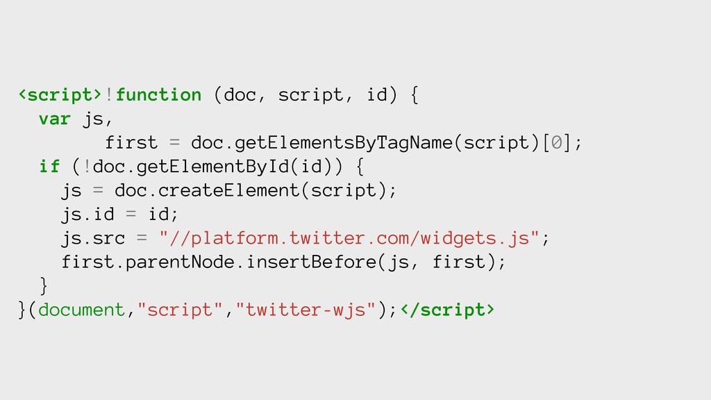 <script>!function (doc, script, id) { var js, f...