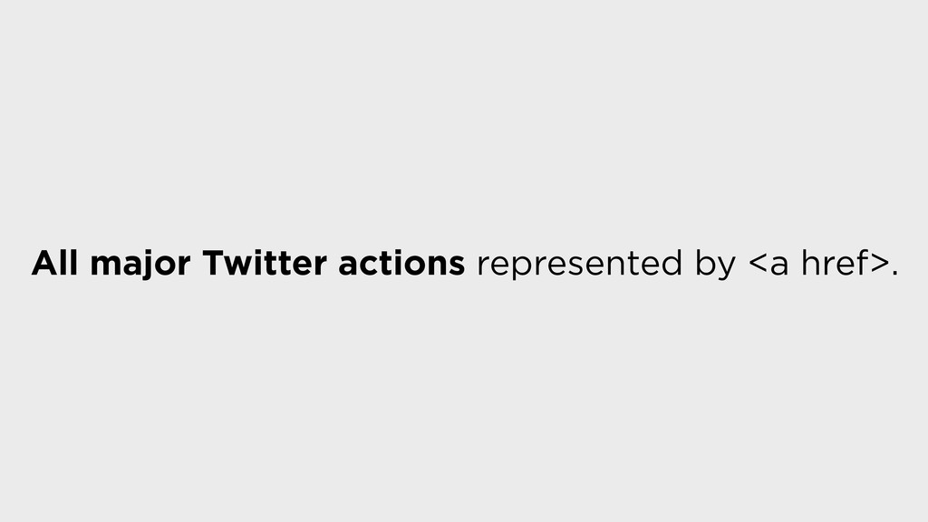All major Twitter actions represented by <a hre...