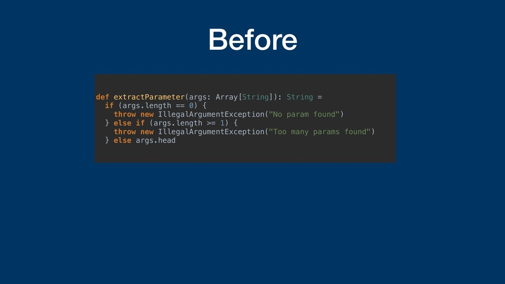 Before def extractParameter(args: Array[String]...