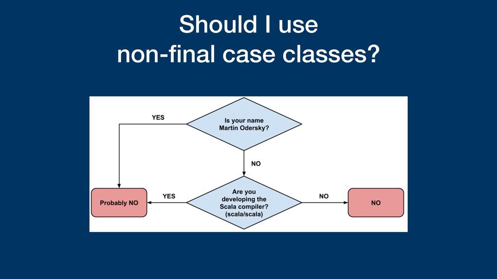 Should I use non-final case classes?