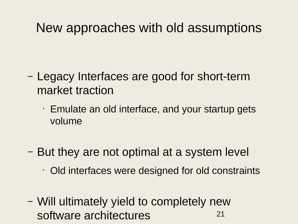 New approaches with old assumptions – Legacy In...