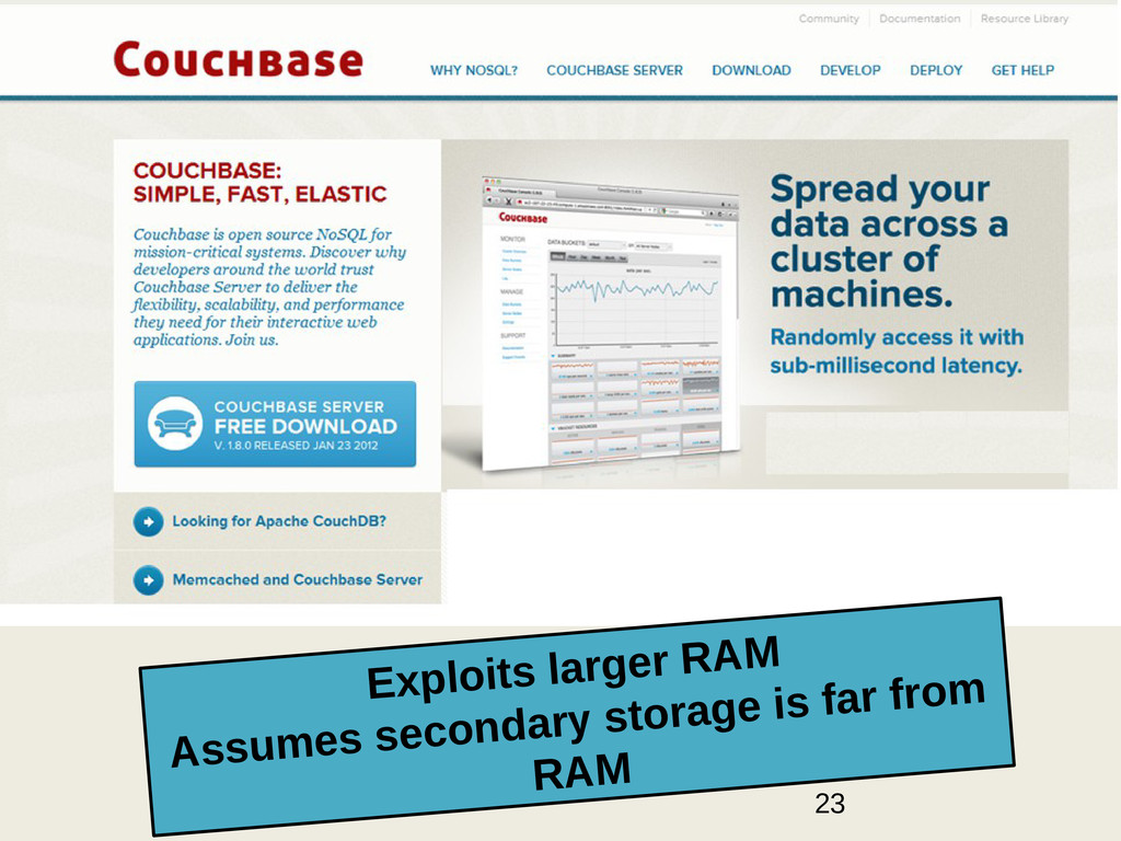 23 Exploits larger RAM Assumes secondary storag...