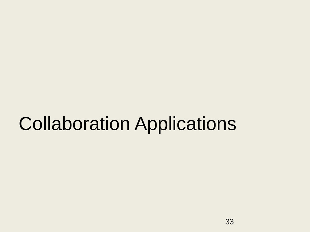 33 Collaboration Applications
