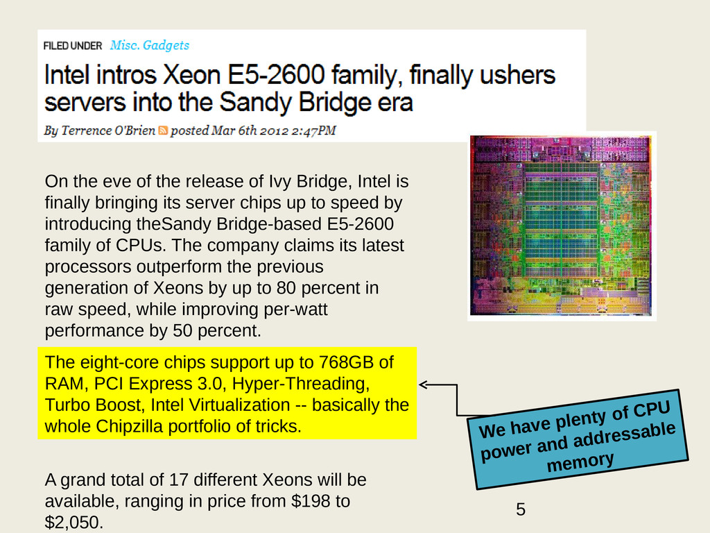 On the eve of the release of Ivy Bridge, Intel ...