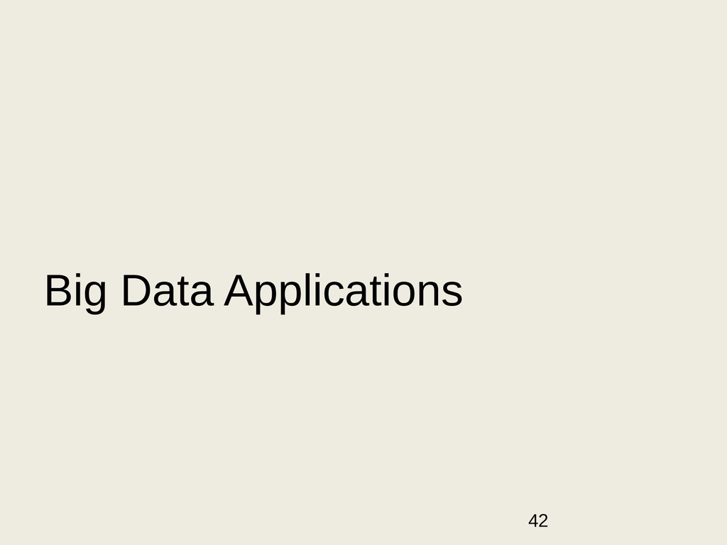 42 Big Data Applications