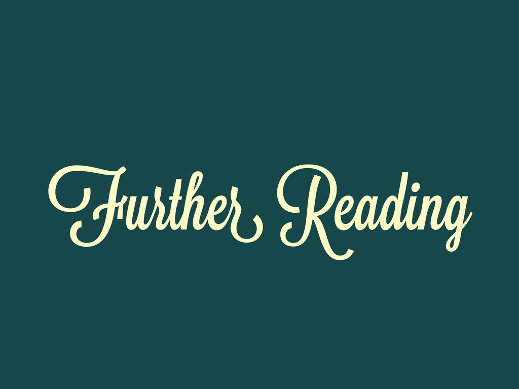 Furthe Reading