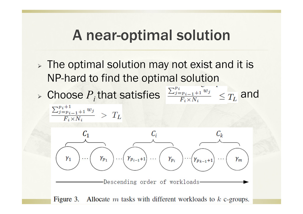 A near-optimal solution   The optimal solution...