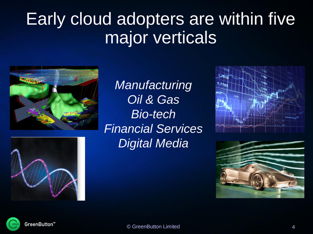 Early cloud adopters are within five major vert...