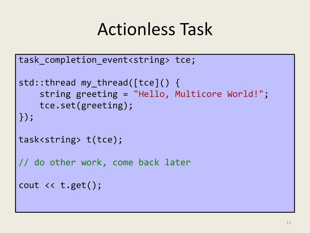 Actionless Task task_completion_event<string> t...