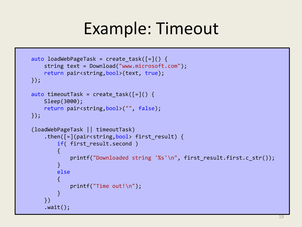 Example: Timeout auto loadWebPageTask = create_...