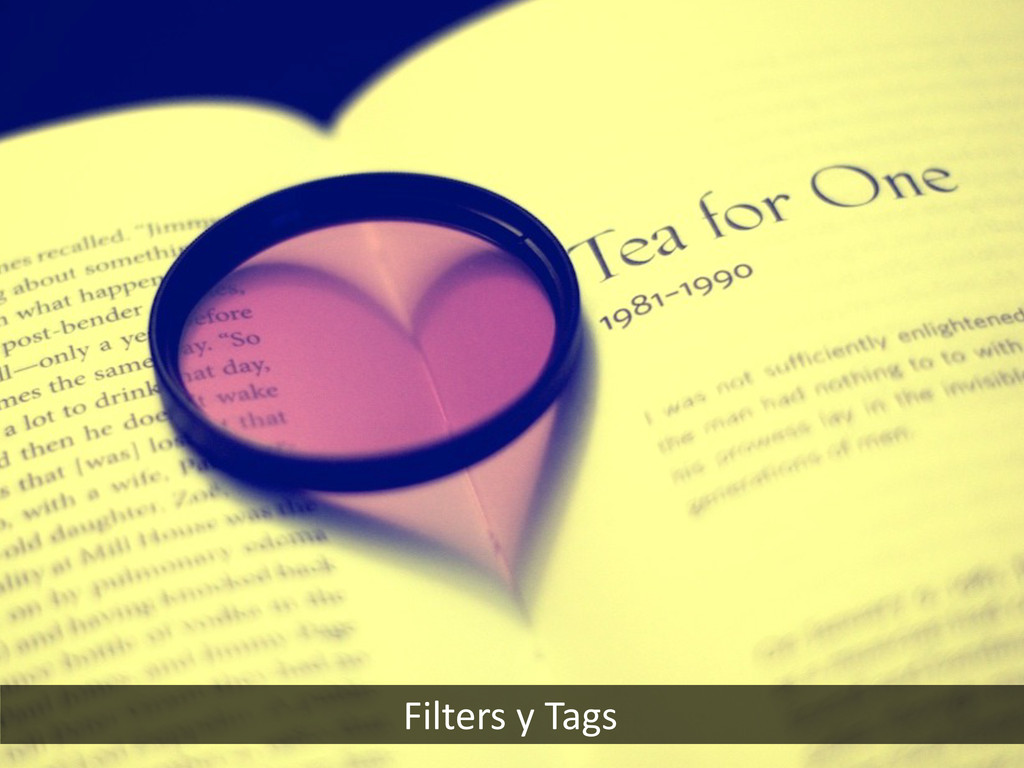 Filters y Tags