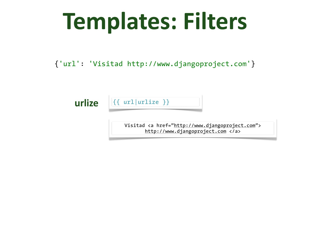 Templates: Filters {'url': 'Visitad http://w...