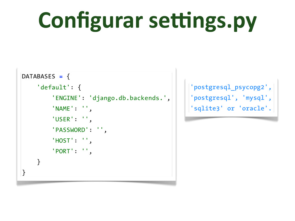 Configurar	