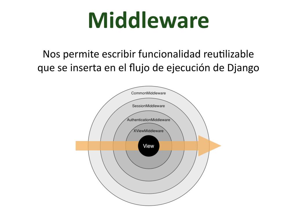 Middleware Nos permite escribir funcio...