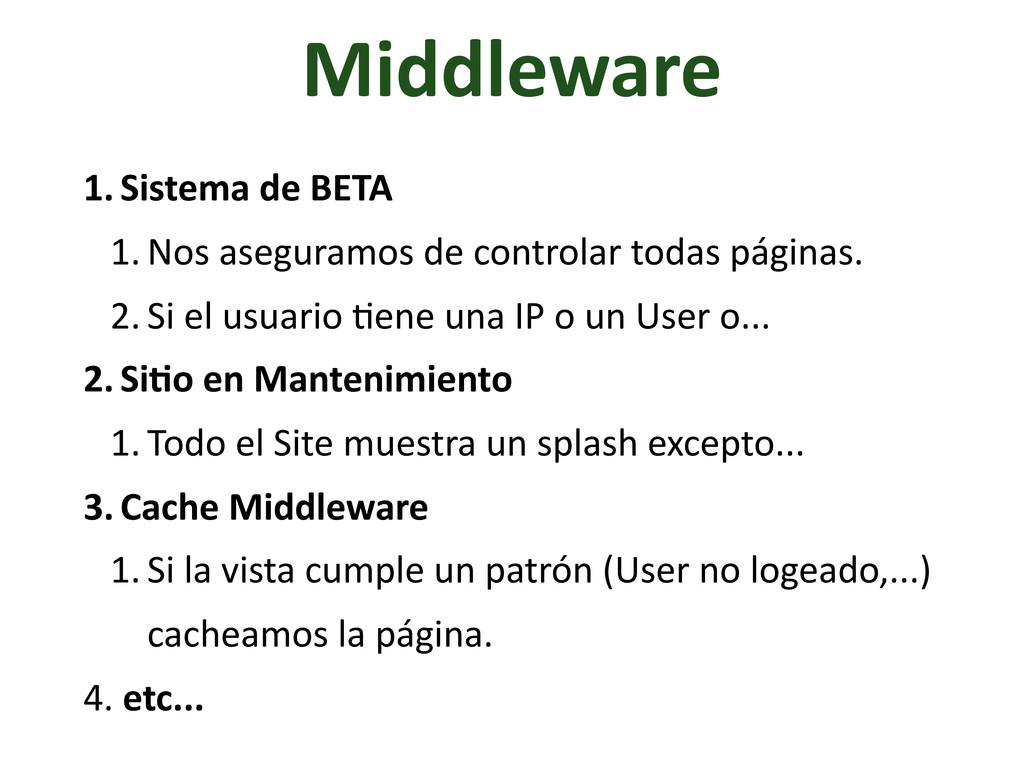 Middleware 1. Sistema de BETA 1. Nos a...