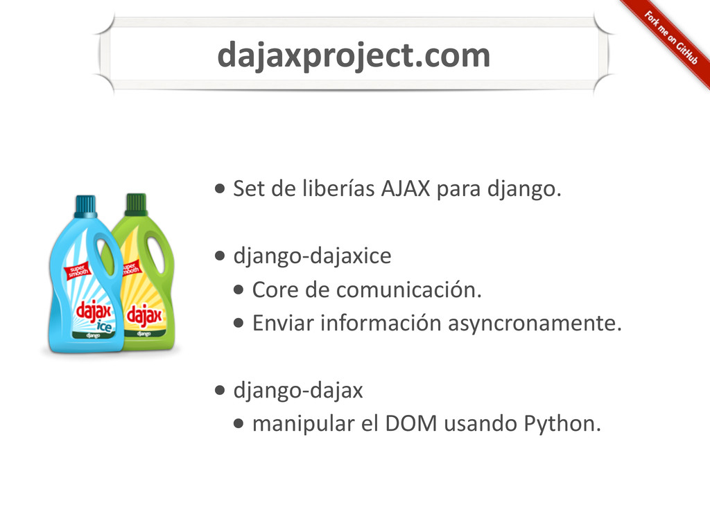 • Set de liberías AJAX para d...