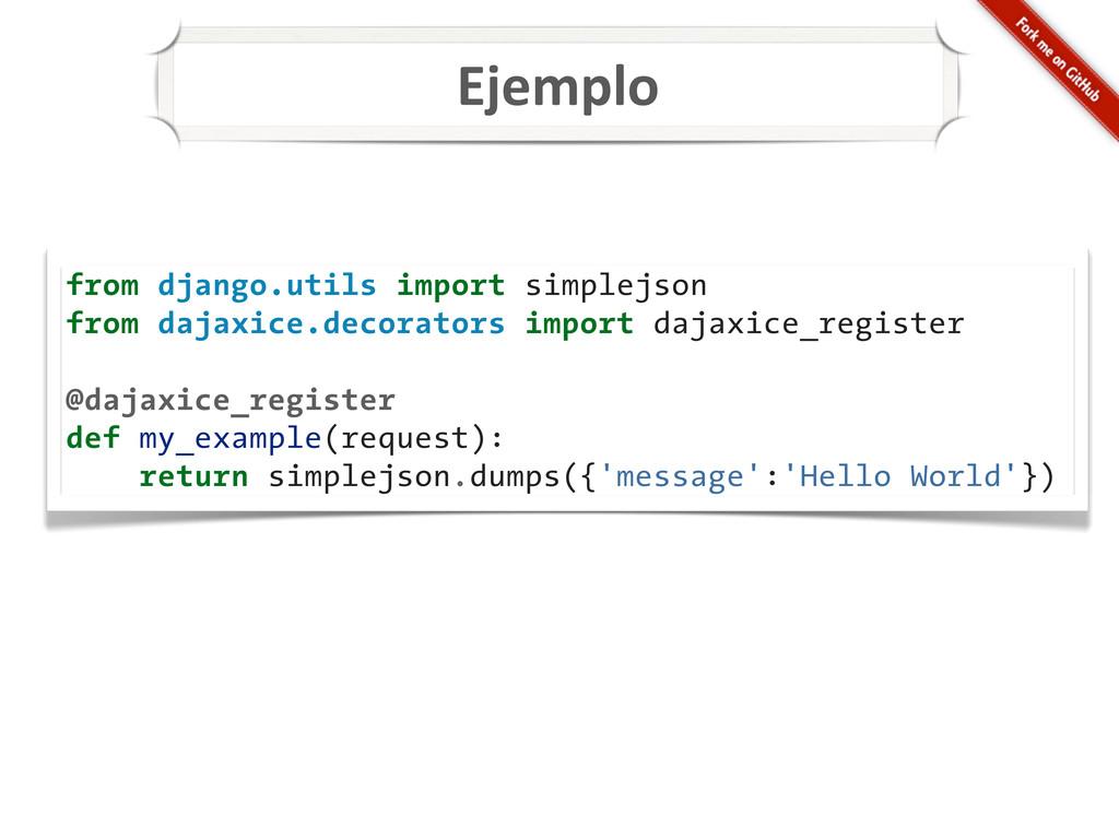 Ejemplo from django.utils import simplejson fro...