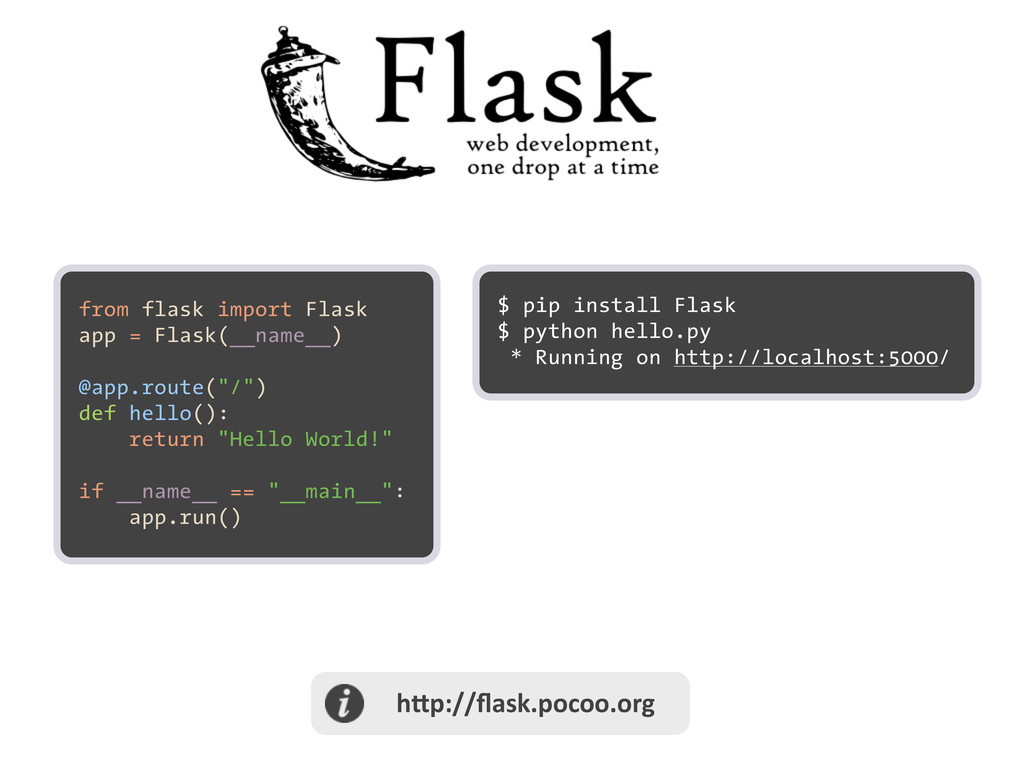 h@p://flask.pocoo.org from flask import Flas...