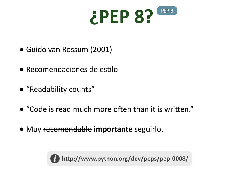 • Guido van Rossum (2001) • Reco...