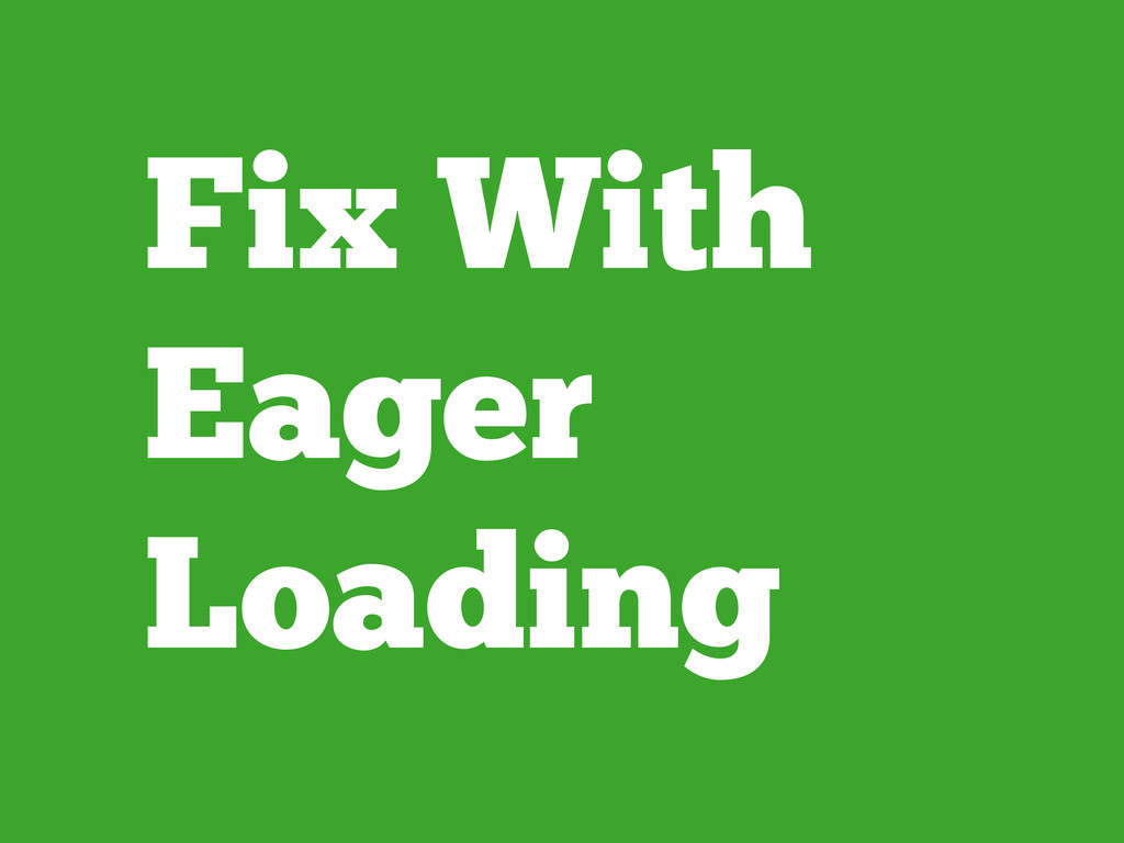 Fix With Eager Loading