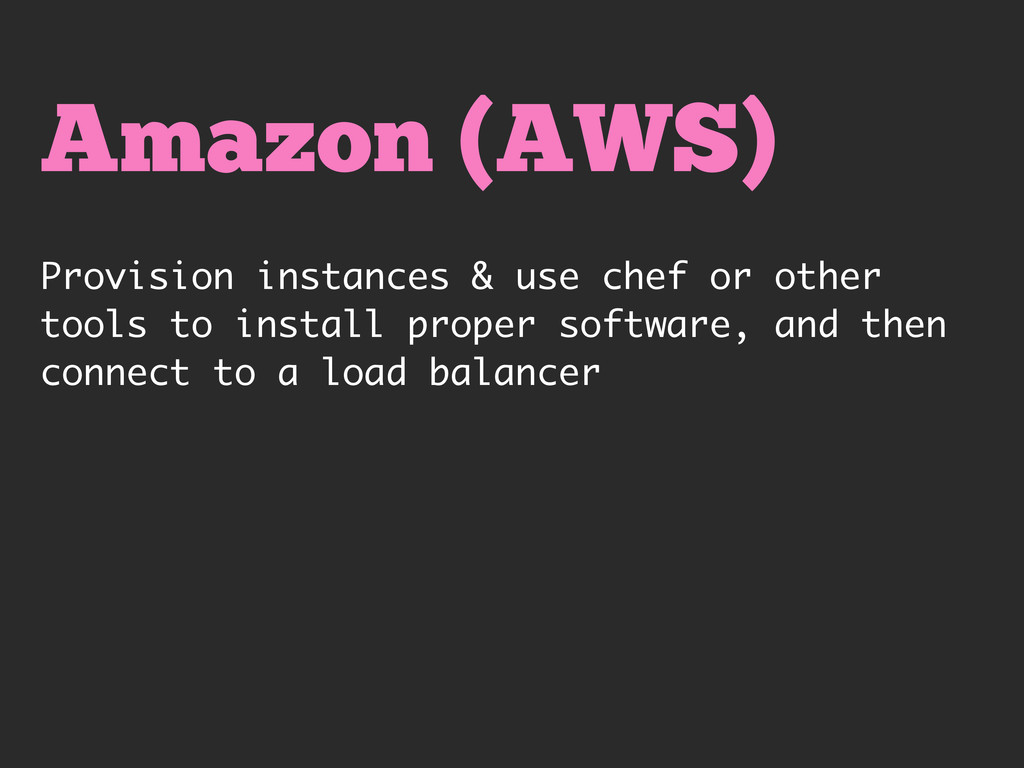 Amazon (AWS) Provision instances & use chef or ...