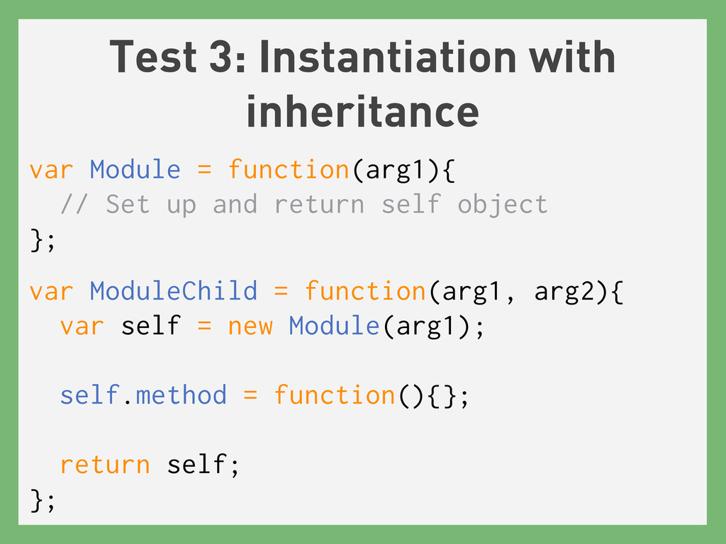 Test 3: Instantiation with inheritance var Modu...
