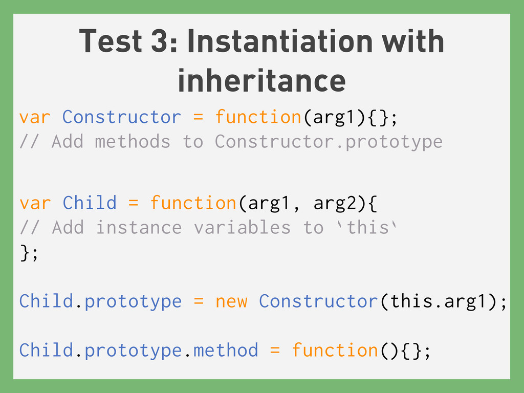 Test 3: Instantiation with inheritance var Cons...