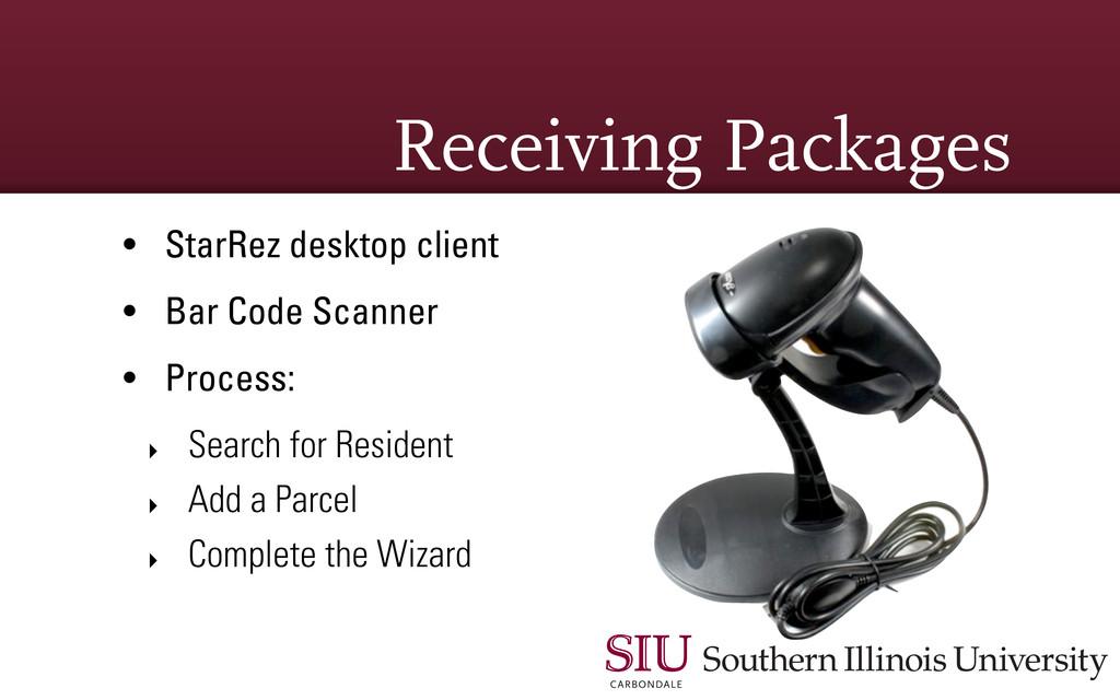 Receiving Packages • StarRez desktop client • B...